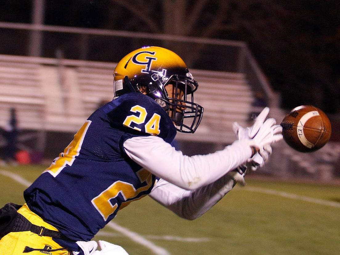 Antonio Rush (24) and Grand Ledge are one of three unbeaten football teams in mid-Michigan.