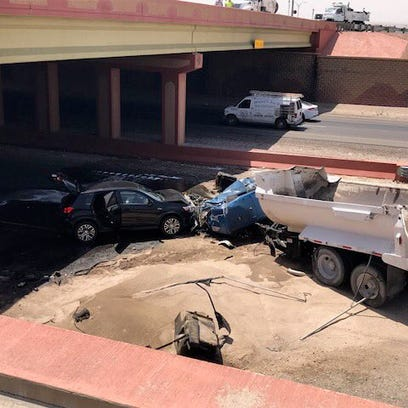 El Paso police say driver jumped out of dump truck before it caused 10-vehicle wreck
