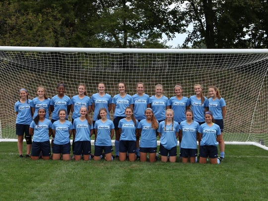 The John Jay High School girls soccer team.