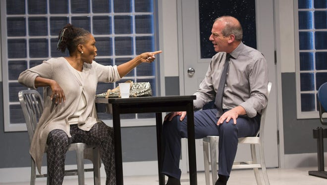 "Suzzanne Douglas and John Bolger in a scene from ""American Son."""