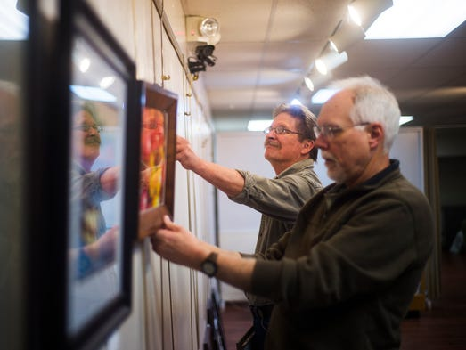 Hanover Area Arts Guild members Eric Miller and Kirby