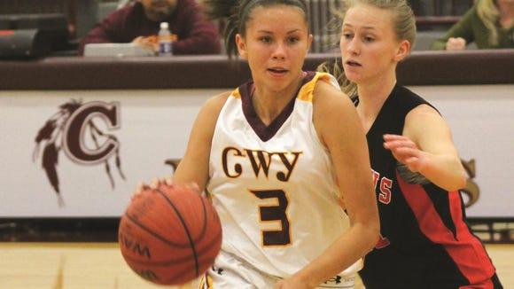 Cherokee's Kendall Toineeta, left.