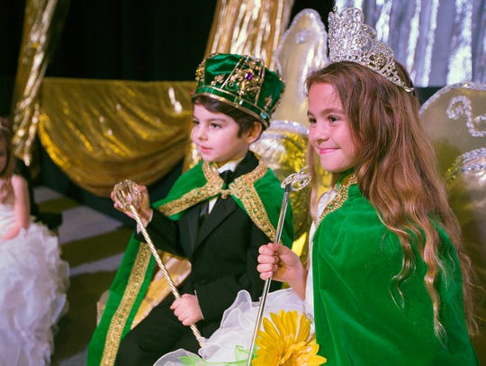Shennon Faith, 7, and John Henry, 6, were named queen