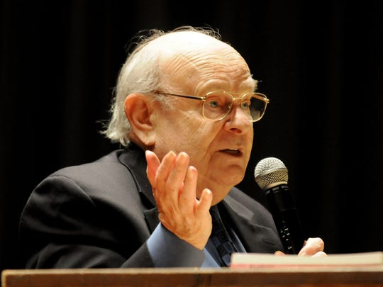 Holocaust survivor Henry Golde spoke to numerous schools and groups.