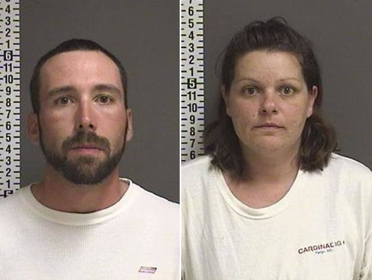 A North Dakota man and woman were arrested in connection