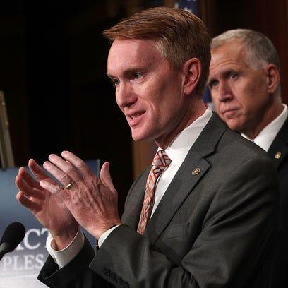 Sen. James Lankford speaks on Capitol Hill on Sept.