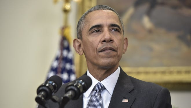 President Obama speaks Tuesday in the Roosevelt Room at the White House about closing the Guantanamo military prison.