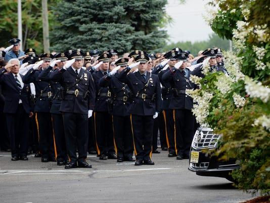 Funeral for Pompton Lakes Police Sergeant Peter Jay Kamper Jr.
