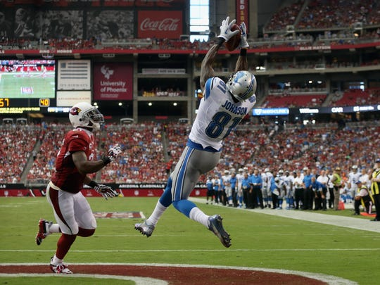 Wide receiver Calvin Johnson  of the Detroit Lions