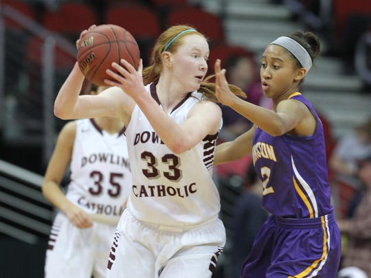 Dowling Catholic's Becca Hittner is one of the stars