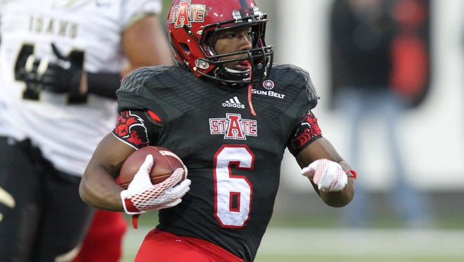 RB Warren Wand (6) returns for an Arkansas State offense that lost most of its production from record-setting season.