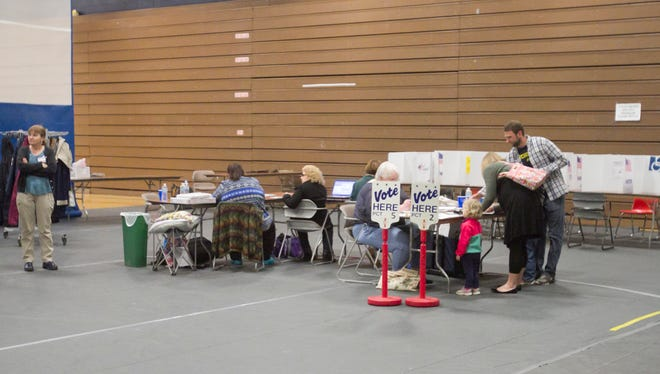 Hartland Consolidated Schools election turnout was low, but a steady flow of people were able to vote with no wait at the Hartland Educational Support Service Center Tuesday, May 2, 2017 for the sinking fund proposal.
