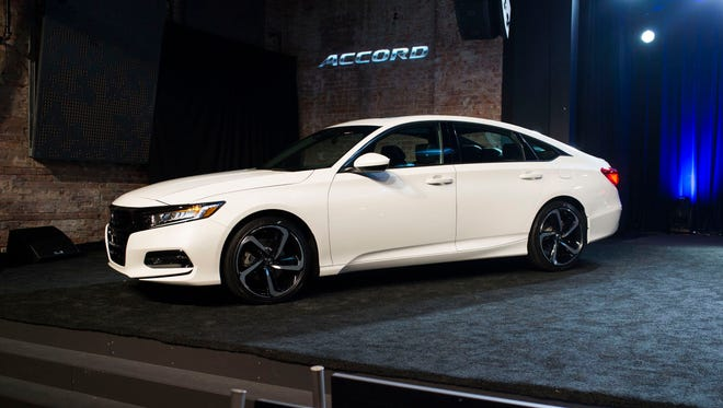 The 2018 Honda Accord Sport is revealed on Friday, July 14, 2017 at the Garden Theater in Detroit.