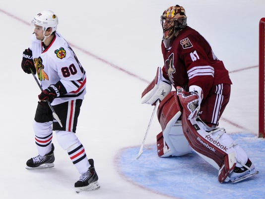 NHL: Chicago Blackhawks at Arizona Coyotes