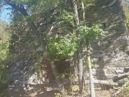 St. Charles Furnace as seen in the fall of 2017.
