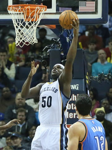 Zach Randolph notched his 12th straight double-double