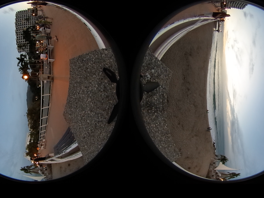 How spherical images look in 360 before they are processed.