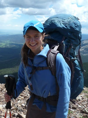 Claire Rugaber poses for a photo while backpacking at Philmont Scout Ranch in New Mexico.