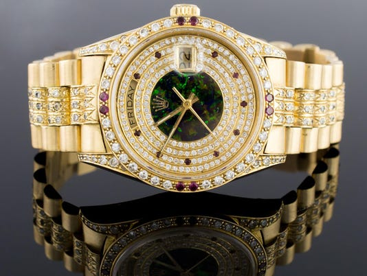 Gold Rolex Presidential Men's Diamond Watch