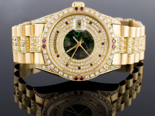 Gold Rolex Presidential Men's Diamond Watch