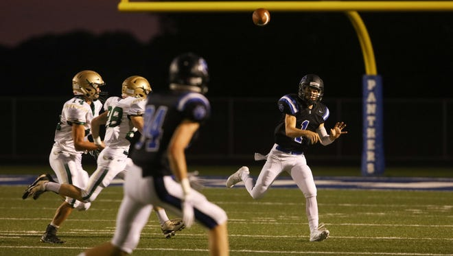 Sterlington quarterback Carson Clowers throws a pass against OCS on Friday night.