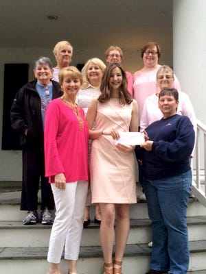 Pictured in the front row, from left, are: Kleta Childs, Paige Childs and Pat Nace. They are joined by Lessley Wiles Tina Dunlap, Carol Price, Brenda Shubert , Lisa Echterling and Lin Heckert. Paige plans to attend George Washington University, where she will major in journalism with an emphasis on political science.