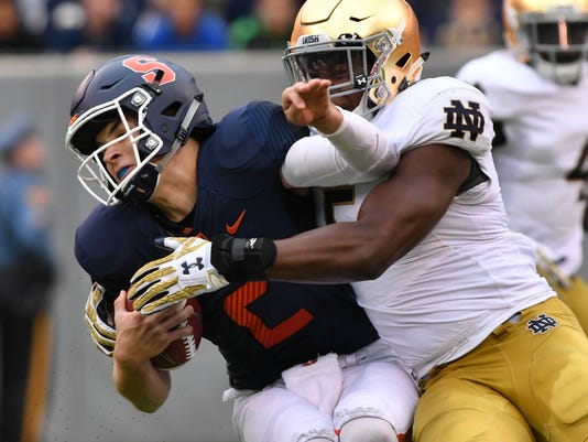 NCAA Football: Notre Dame vs Syracuse