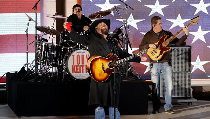 Toby Keith performs at a pre-Inaugural 'Make America Great Again! Welcome Celebration' at the Lincoln Memorial.