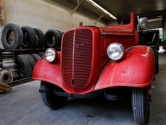 The 1937 Ford fire engine that MSU academic specialist