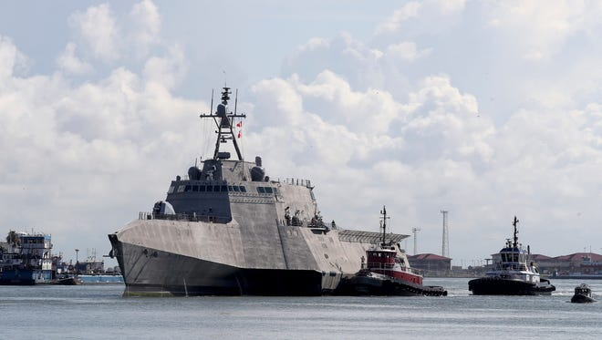 The USS Gabrielle Giffords, a littoral combat ship.