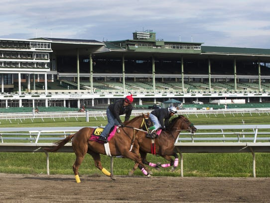 Daily morning workouts at Monmouth Park in Oceanport.