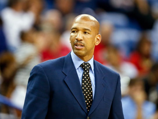New Orleans Pelicans head coach Monty Williams during
