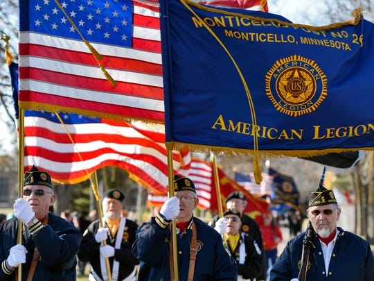 This year's Veterans Day Parade starts at 1 p.m. Sunday and runs along West St. Germain Street from the St. Cloud Public Library to River's Edge Convention Center.