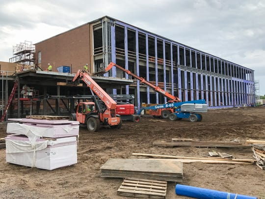 Construction on the new Sherburne County courts addition