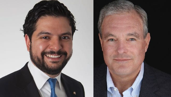 David Saucedo, left, and Dee Margo are running for mayor of El Paso