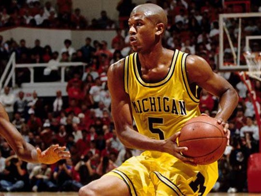 Jalen Rose, the object of high school Kobe Bryant's affection while still at Michigan — USA TODAY Sports Images