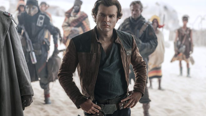 "In this image released by Lucasfilm, Alden Ehrenreich appears in a scene from ""Solo: A Star Wars Story."""
