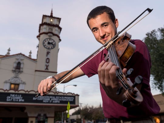 Violinist Maxton Vieira is a member of the Sequoia