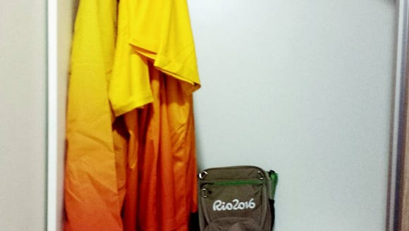 A volunteer's gear for Rio 2016. (Photo courtesy of Rachel Gonsalves)