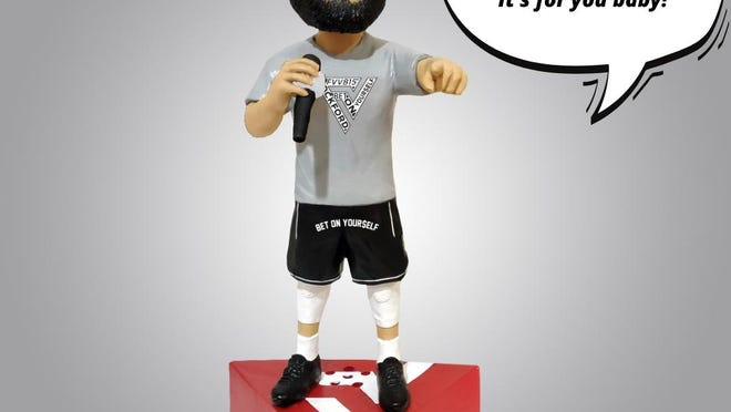 The new Fred VanVleet talking bobblehead will be available in August.