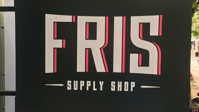 Fris Downtown will now operate under the name Fris Supply Shop. The storefront features new signage and a new logo.