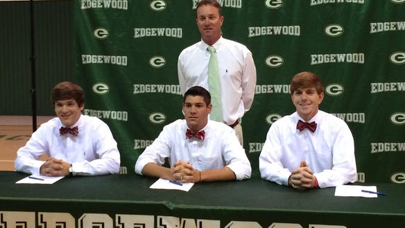 Three Edgewood baseball players sign