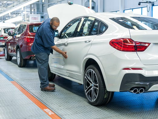 A worker on the line at BMW