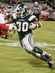 Greenbrier's Brandon Chambers runs the football.