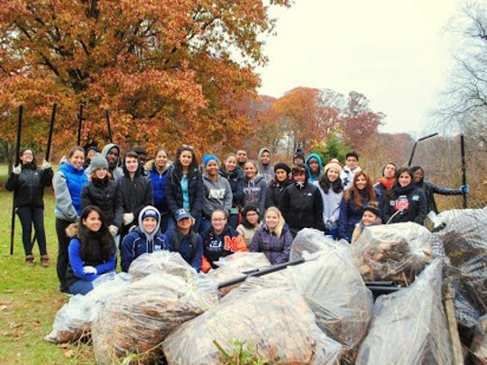 A large group of students from the Kean University Center For Leadership & Service braved frigid temperatures to contribute to Union County's Adopt-A-Park program on Nov. 16. They removed old fencing and posts, cut back invasive plants, pruned native trees, and picked up trash and leaves in Echo Lake Park in Mounainside. The Center for Leadership has been a regular partner with the Adopt-a-Park Program and the students will face the elements again for another project this month. To find out how your company, organization, or school can join, visit ucnj.org, call 908-789-3683 or email bkelly@ucnj.org.