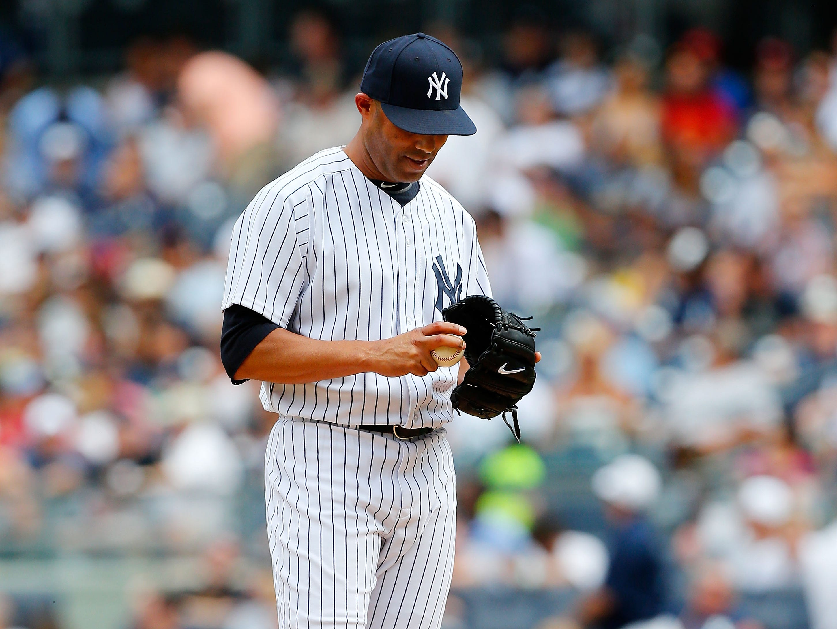 Mariano Rivera blows a third straight save for the first time in his famed career after allowing home runs to Miguel Cabrera and Victor Martinez in the 9th inning. Rivera has a record 643 saves, but had never failed three in a row in 936 relief appearances.