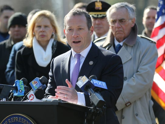 U.S. Rep. Josh Gottheimer on Jan. 29 announces his