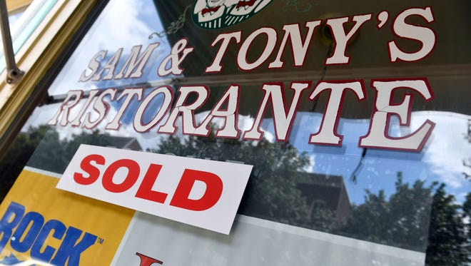 Sam & Tony's Ristorante, at 243 W. Market Street, has been sold.