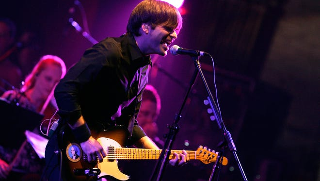Musician Ben Gibbard of Death Cab For Cutie performs with Magik*Magik Orchestra at the Beacon Theatre on April 27, 2012 in New York City.
