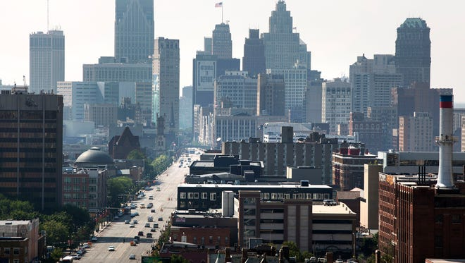 A view of Downtown Detroit in 2013.